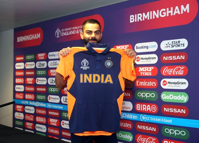Virat Kohli unveils India's new change kit