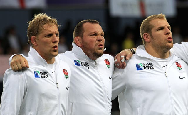 England World Cup winner Steve Thompson (centre) says he cannot recall the team's 2003 triumph in Australia