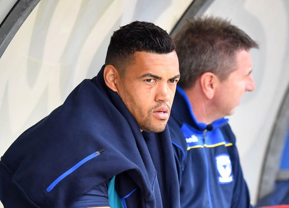 Luther Burrell on the bench for Warrington