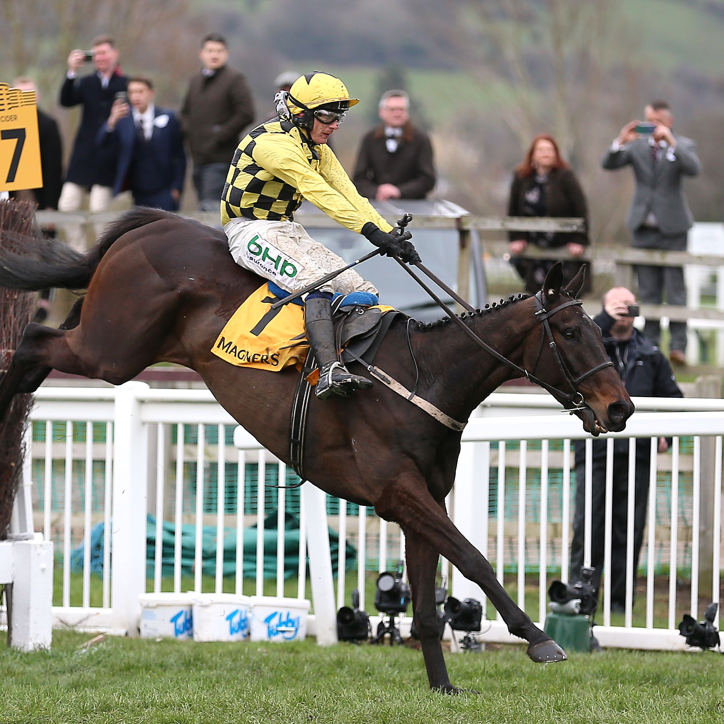 Al Boum Photo and Paul Tonwend on their way to victory in the Gold Cup