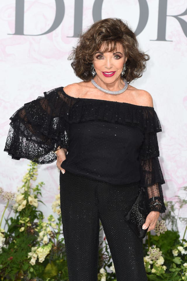 Joan Collins arrives at the V&A Summer Party