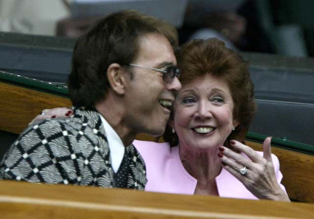 Cliff Richard and Cilla Black at Wimbledon