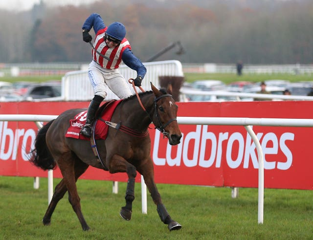 De Rasher Counter wins the Ladbrokes Trophy at Newbury