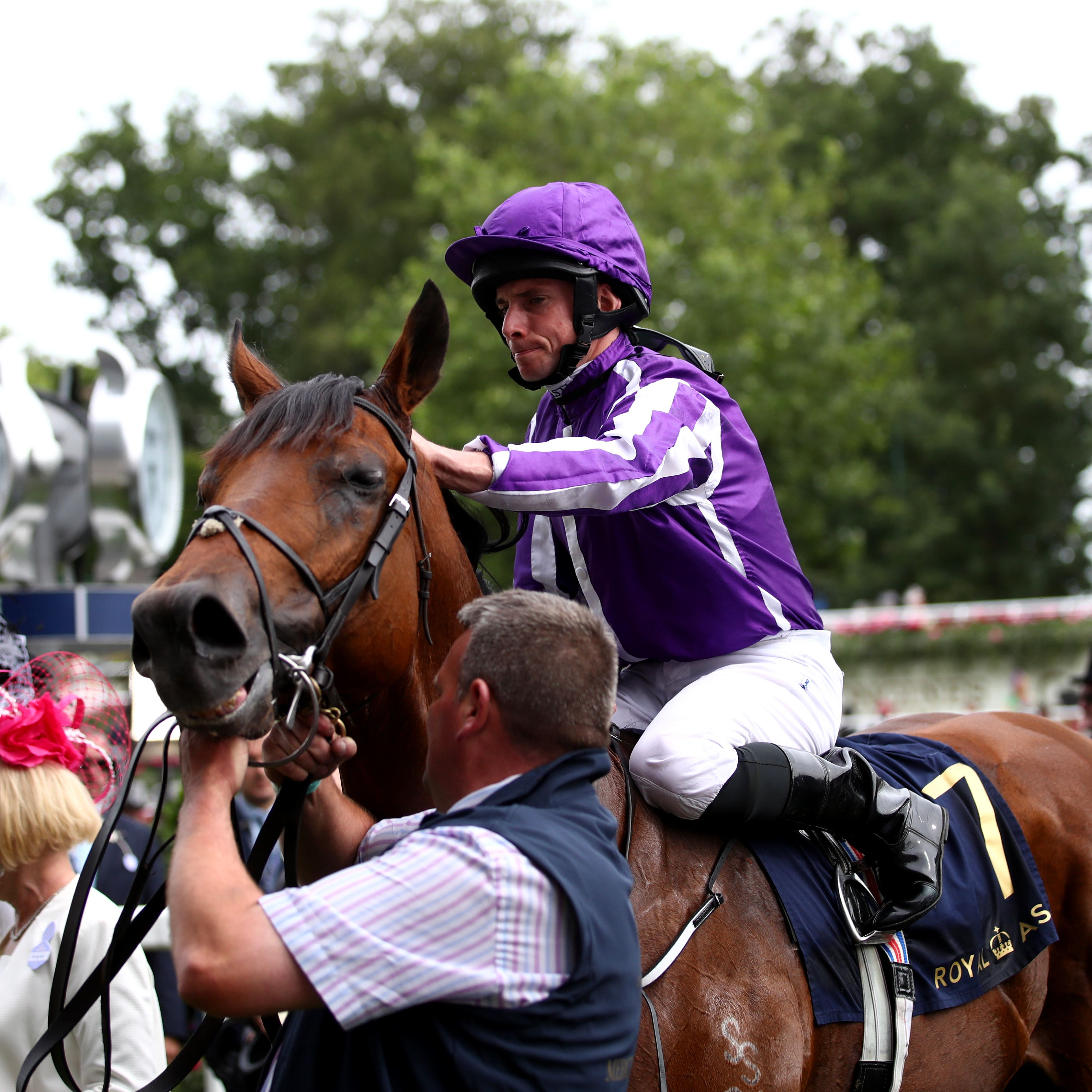Ryan Moore and Merchant Navy after the Diamond Jubilee Stakes