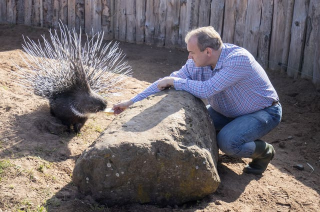 Ed Davey visit to Fife Zoo