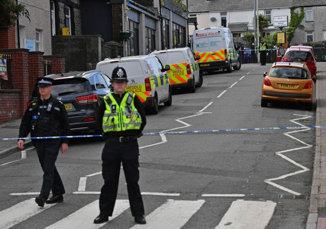 Police cordoned off the high street