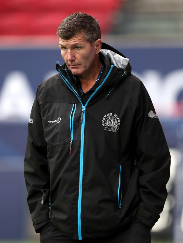 Rob Baxter was emotional after Exeter's win