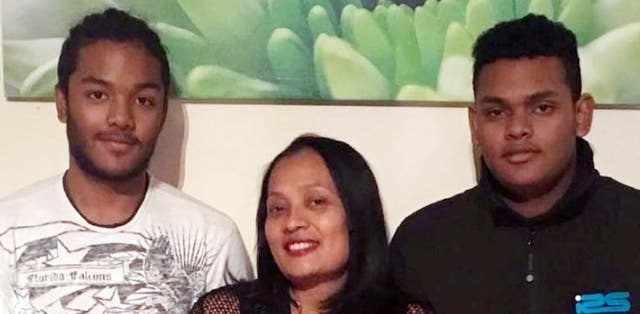 Brothers Sean and Shane Rajoobeer were killed and their mother Mary is also believed to have died in the blast (Leicestershire Police/PA)
