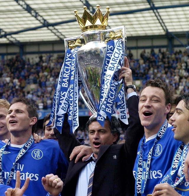 Mourinho's first season ends with Chelsea lifting their first league title in 50 years