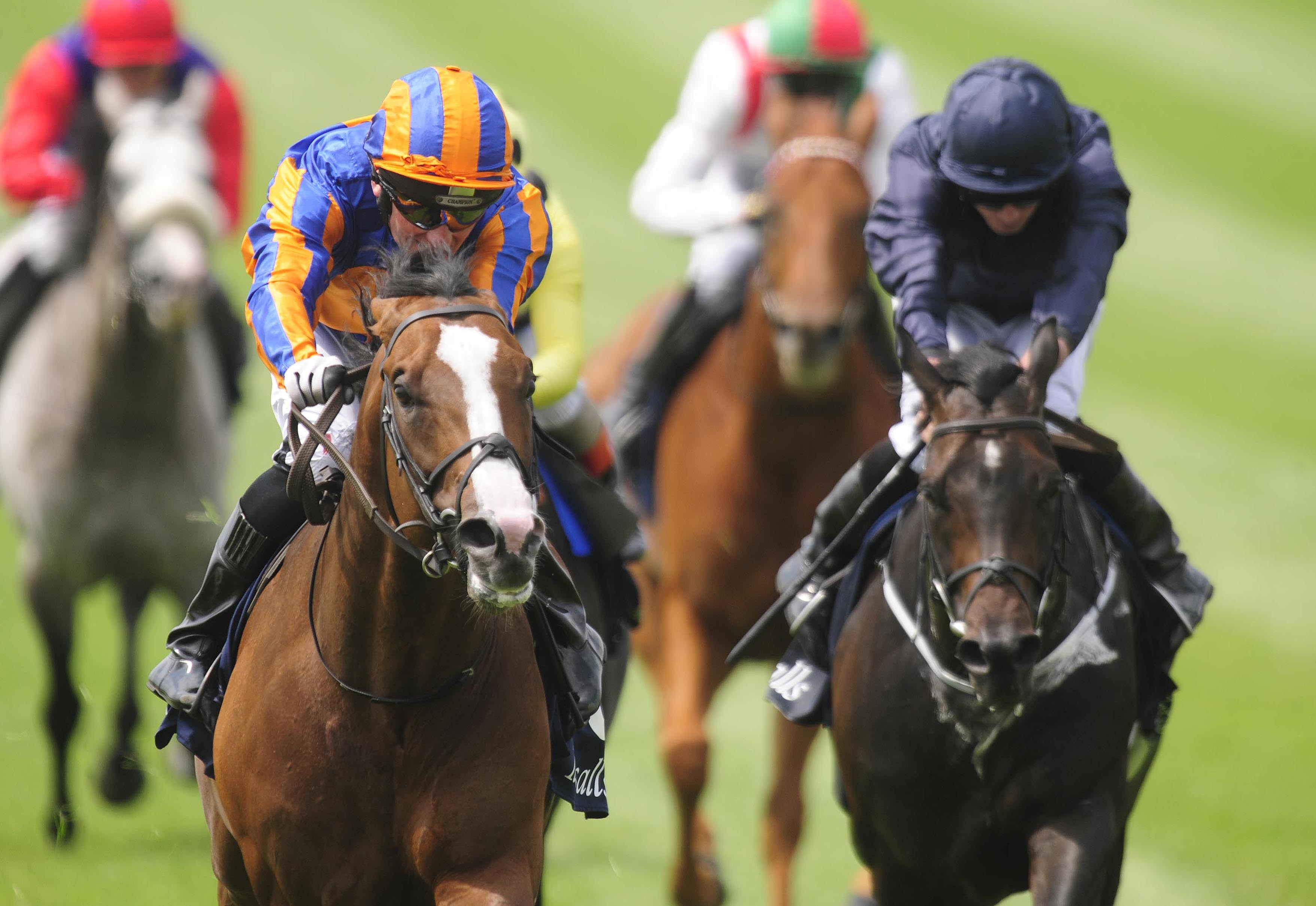 Cliffs Of Moher found stablemate Lancaster Bomber (left) just too strong at the Curragh