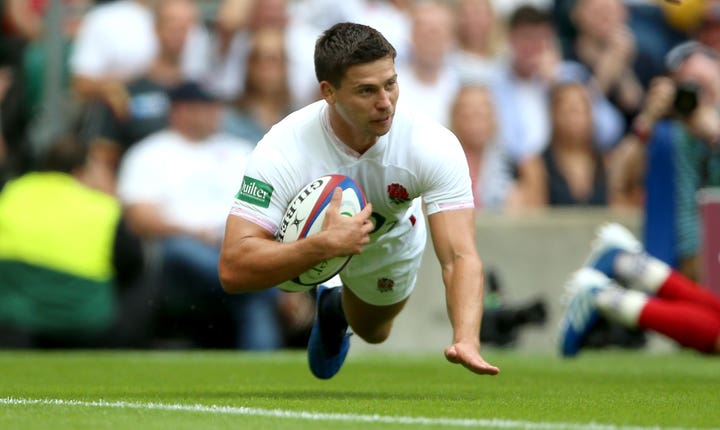 Ben Youngs dives in, only for his try to be ruled out