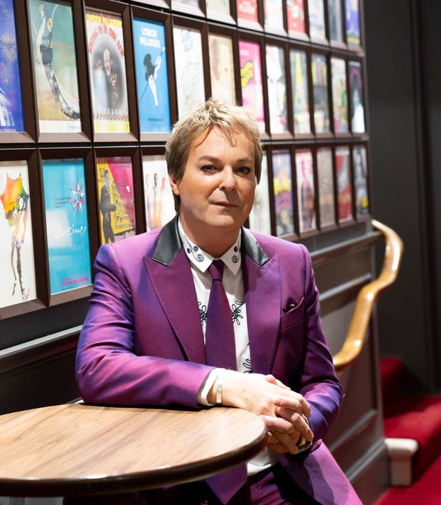 Julian Clary joins the Palladium wall of fame