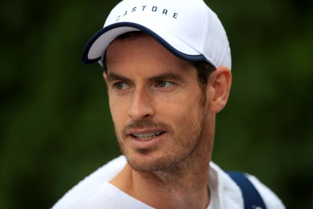 Andy Murray in match action