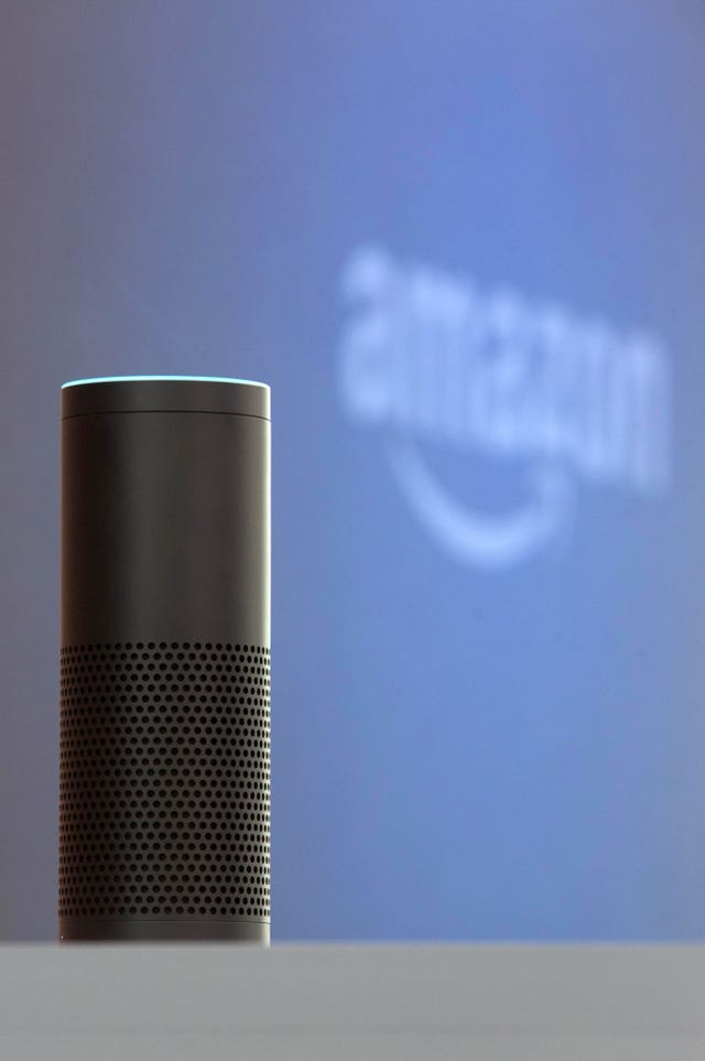 An Amazon Echo smartspeaker