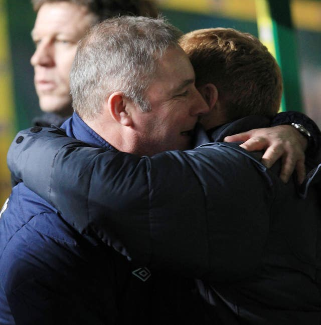 McCoist congratulated Celtic manager Neil Lennon and his squad