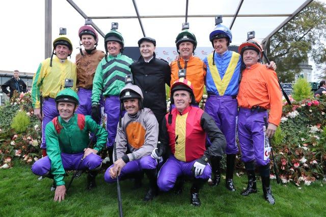 Pat Smullen with Kieren Fallon (far right) and the other legends ahead of his charity race