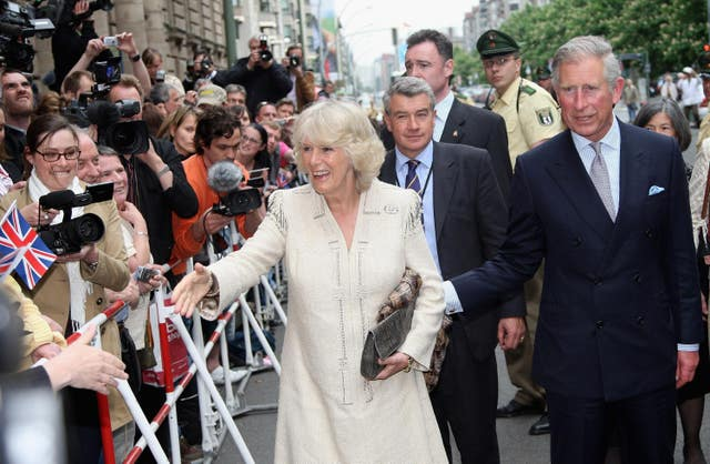 Charles and Camilla go on a walkabout during a previous visit to Germany in 2009. Chris Jackson/PA Wire