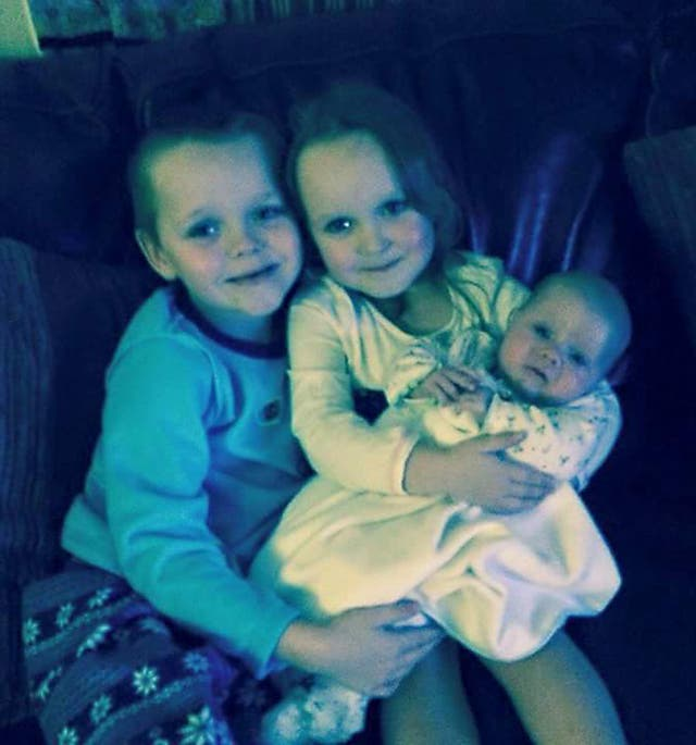 Brandon, Lacie and Lia Pearson died following a blaze at their home (Greater Manchester Police/PA)