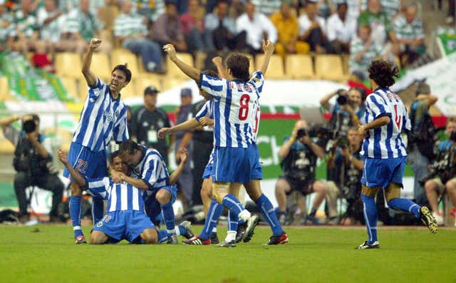 Jose Mourinho's Porto beat Celtic to win the UEFA Cup in 2003