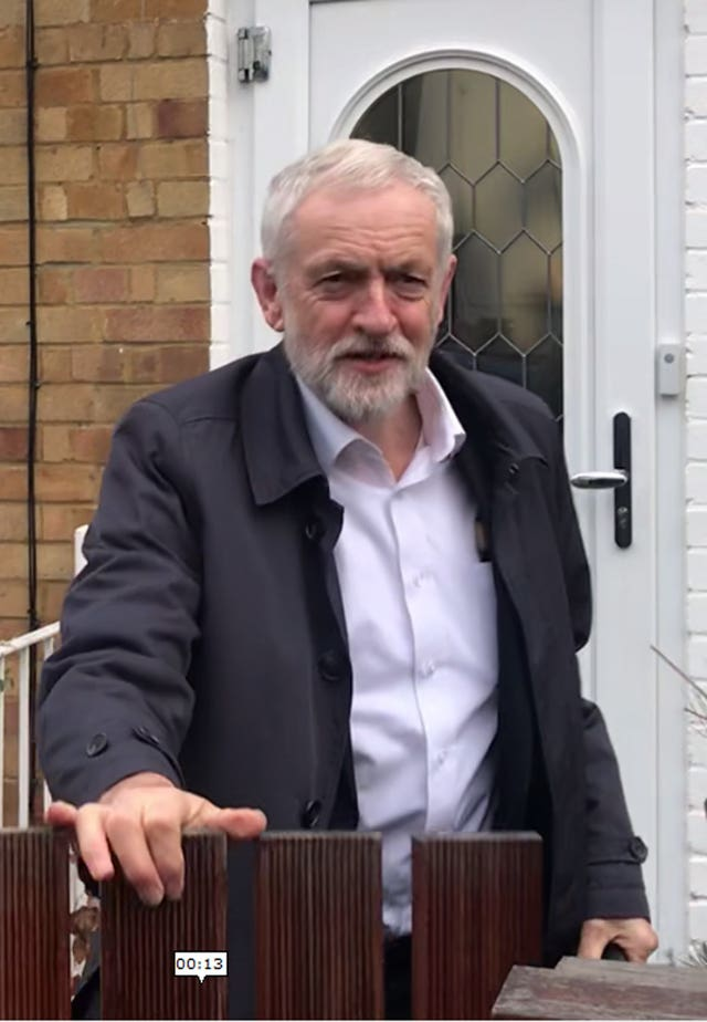 Jeremy Corbyn leaves his home in north London
