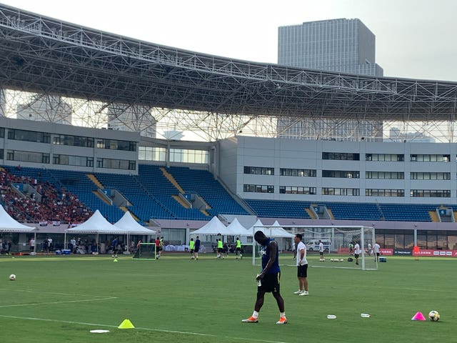 Lukaku trained alone in Shanghai