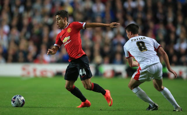 Andreas Pereira made his United debut against MK Dons in 2014