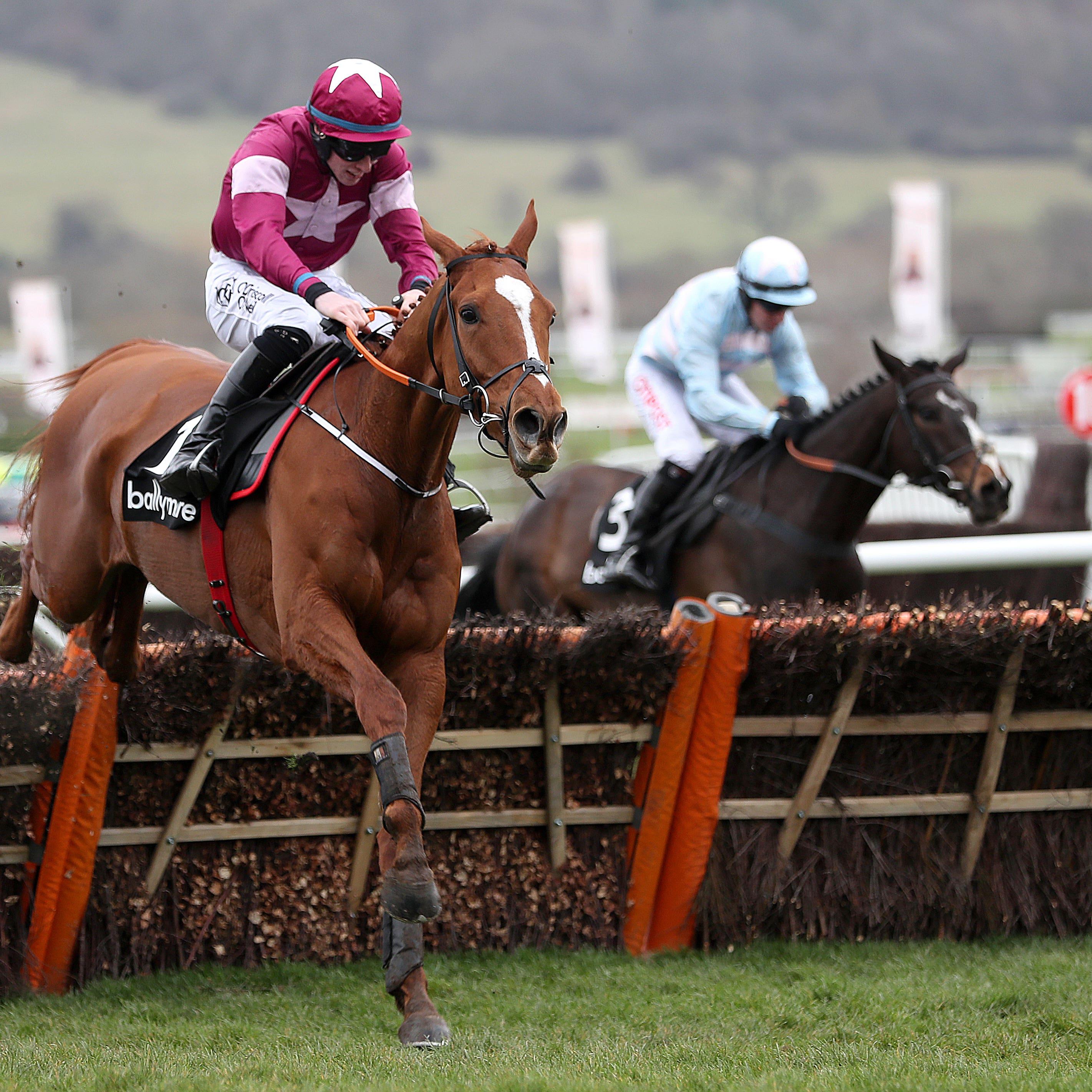 Samcro on his way to winning the Ballymore Novices' Hurdle at Cheltenham