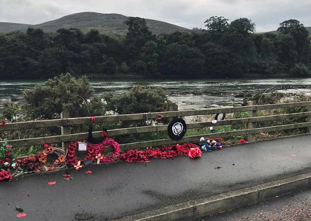 Narrow Water Massacre memorial vandalism