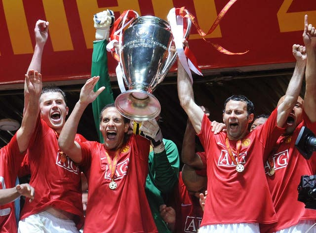 Ryan Giggs, right, won 34 trophies with Manchester United during a glittering career (Owen Humphreys/PA)