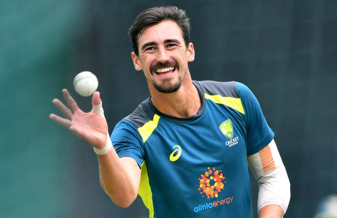 Mitchell Starc has had to sit out