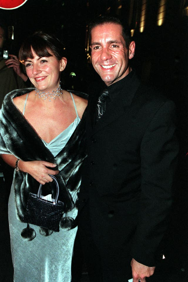 Winton with fellow presenter Davina McCall in 1998 (Toby Melville/PA)