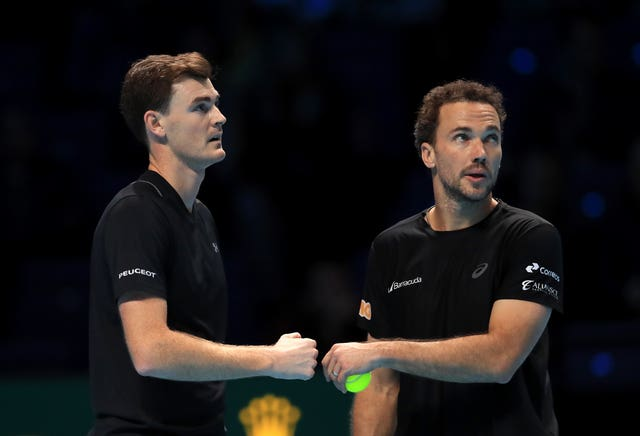Jamie Murray (left) played at the O2 with previous partner Bruno Soares