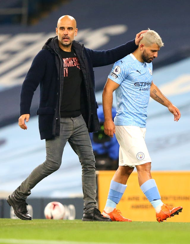 Sergio Aguero played over an hour for Manchester City (Alex Livesey/PA)