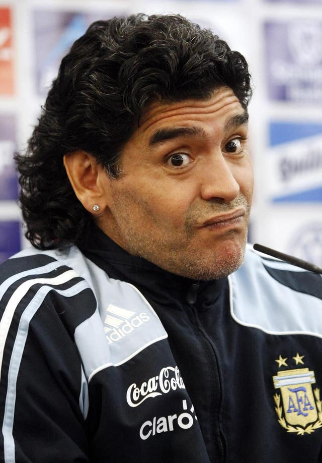 Diego Maradona spent two years as manager of Argentina