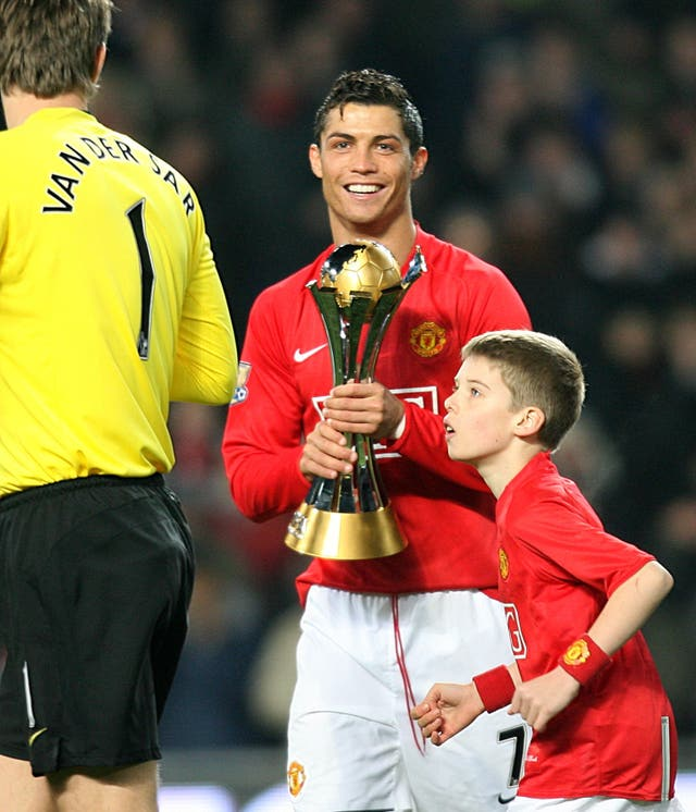 Cristiano Ronaldo won the Club World Cup with Manchester United in 2008