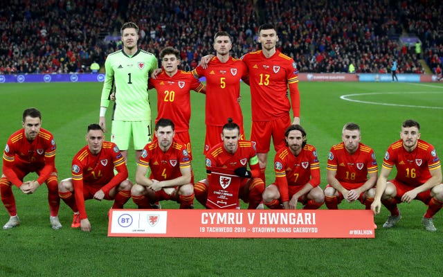 Wales line up before kick-off