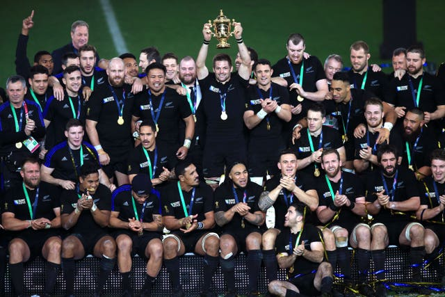 Williams was part of the All Blacks squad that won the 2015 World Cup