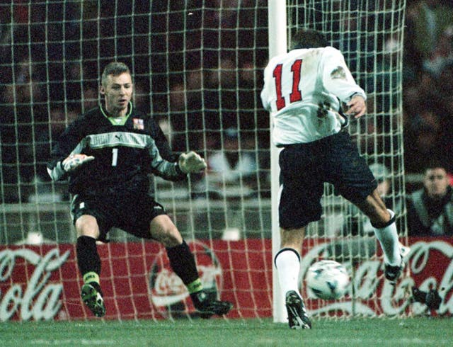 Paul Merson made his final England appearance against the Czech Republic in 1998 - scoring in a 2-0 win.