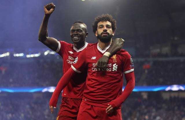 Mohamed Salah, right, and Sadio Mane won the Champions League with Liverpool earlier this month