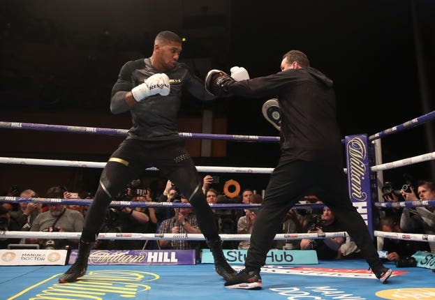 Anthony Joshua v Joseph Parker Media Workout – St David's Hall