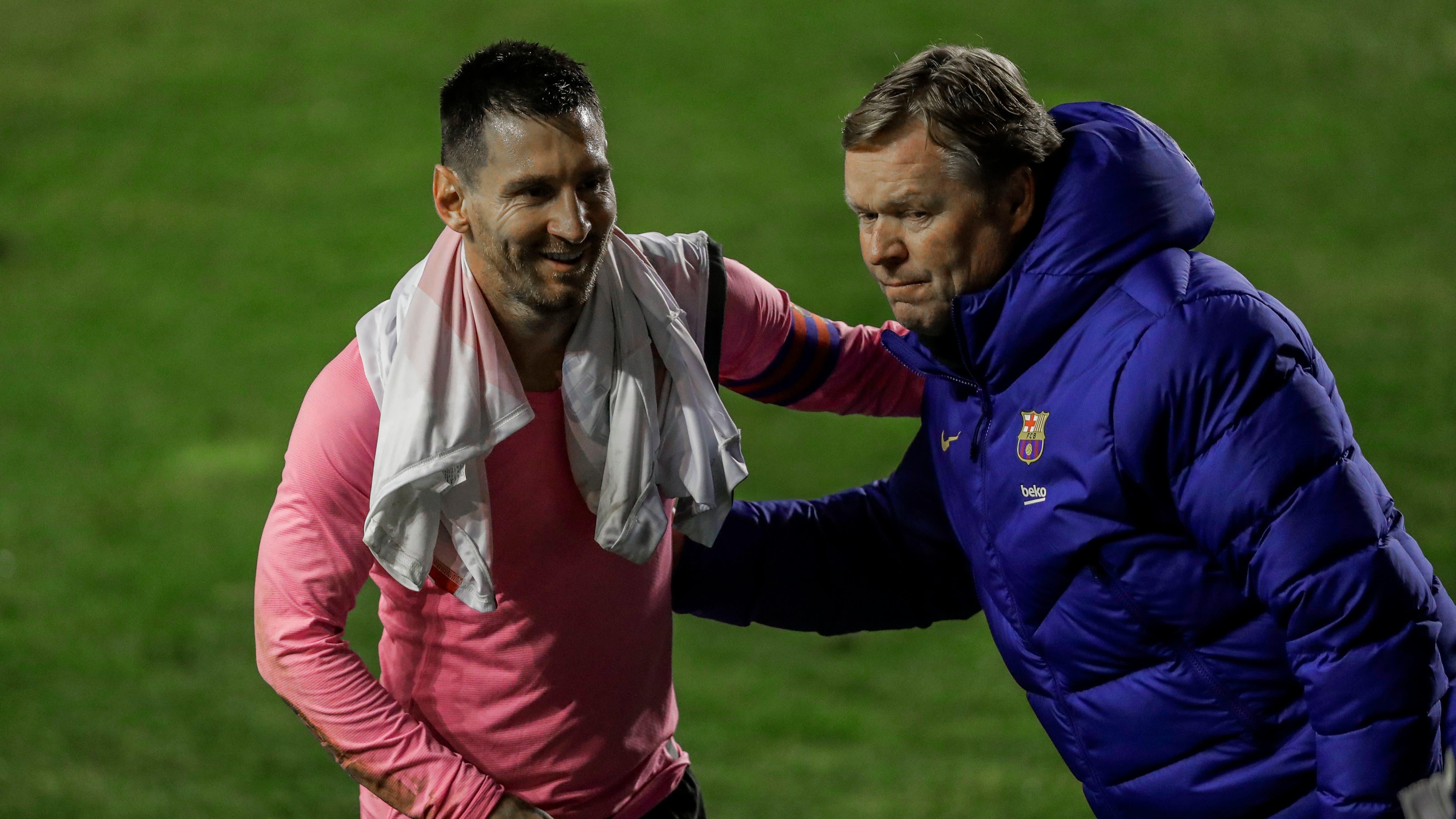 Lionel Messi scores on return as Barcelona defeat Rayo Vallecano in Copa del Rey