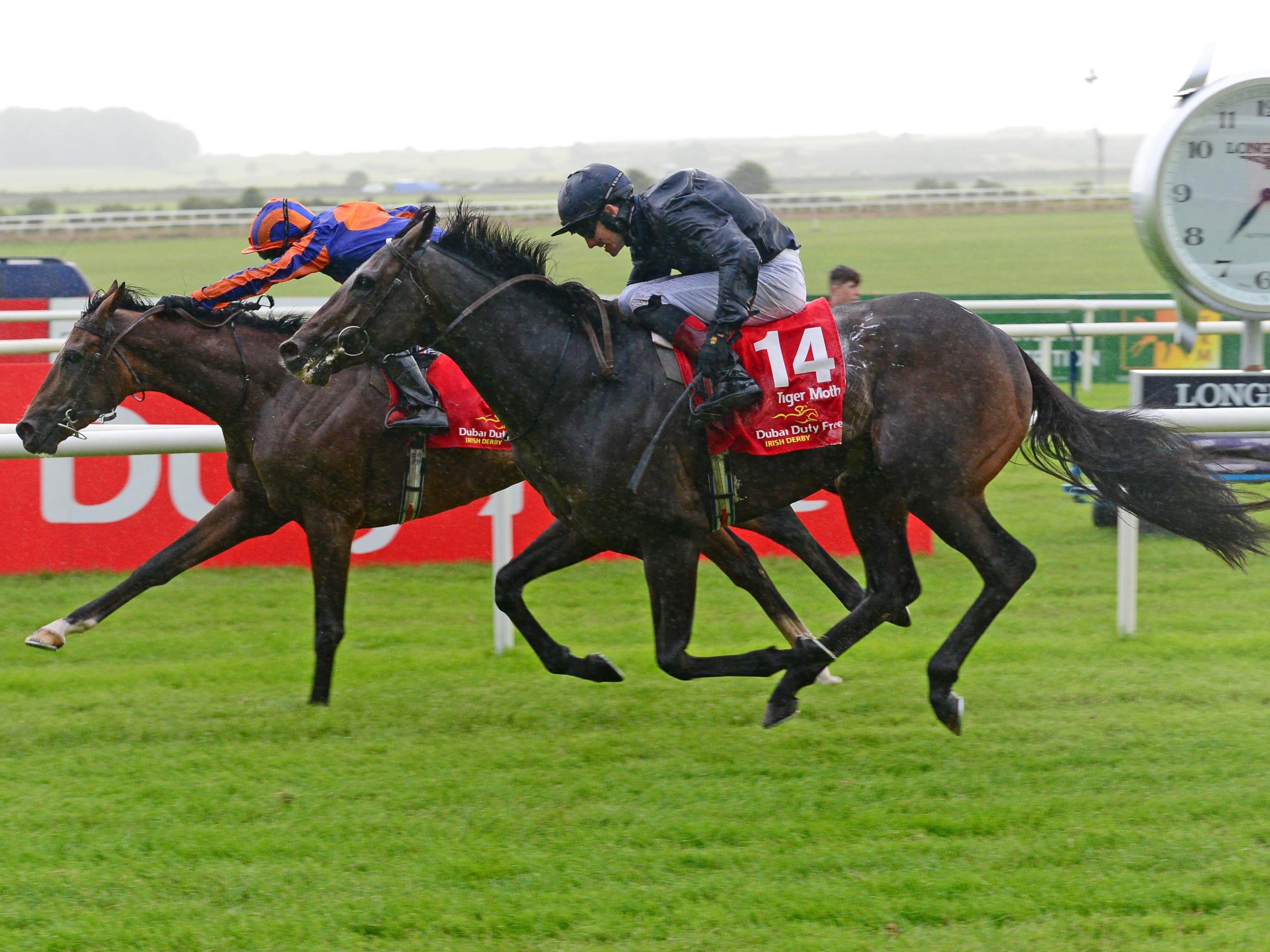 Santiago edged out Tiger Moth at the Curragh (PA)