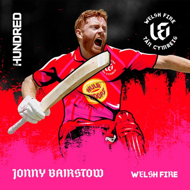 Jonny Bairstow is set to represent Welsh Fire in the inaugural fixture.