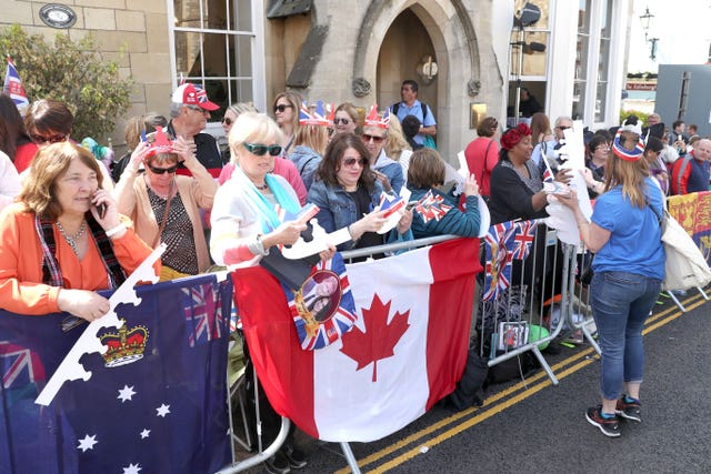 Global appeal: Fans have flown from around the world to see the royal wedding (Gareth Fuller/PA)