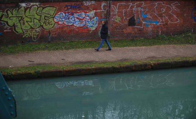 Bridgewater Canal turns blue