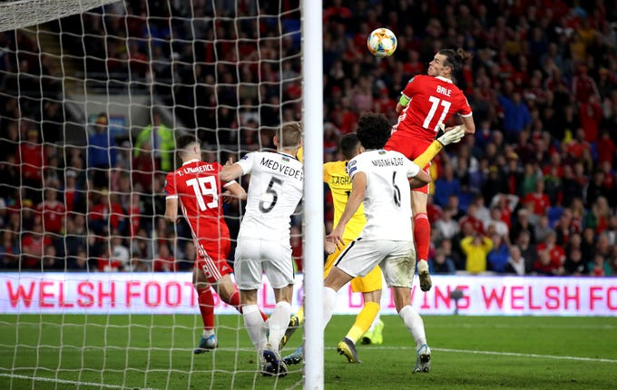 Gareth Bale headed home Wales' late winner
