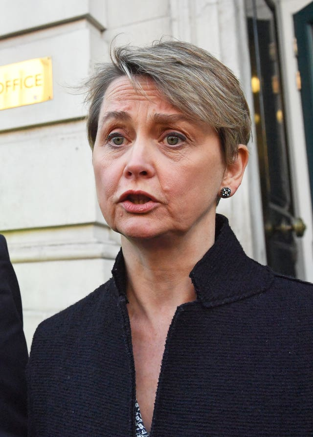 Labour MP Yvette Cooper expressed concern (Stefan Rousseau/PA)