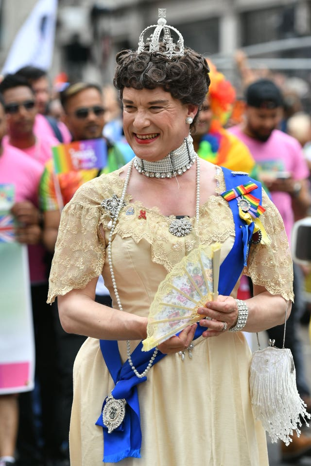 A reveller during the Pride in London Parade