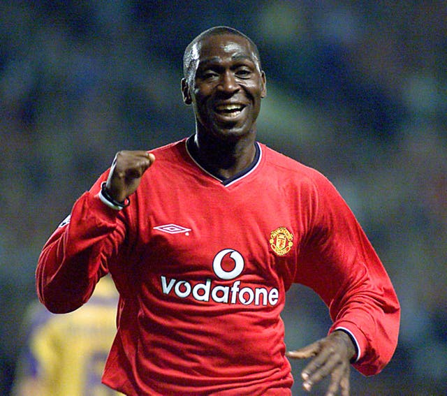 Manchester United striker Andy Cole scored and was later sent off in a 3-2 win at Liverpool