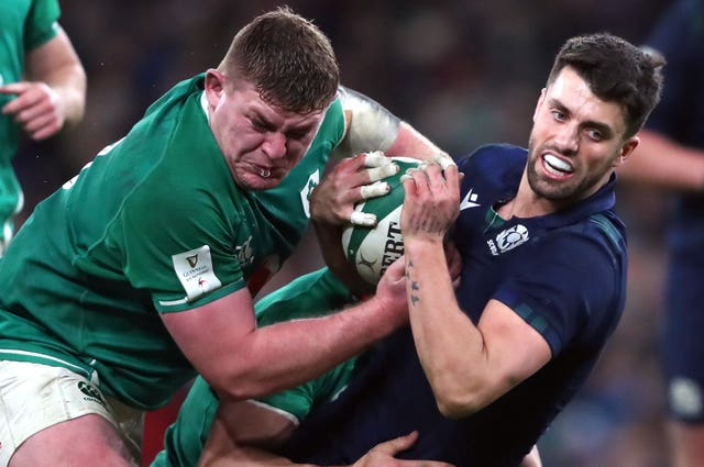 Kinghorn backs Adam Hastings, right, to be Scotland's key man at Murrayfield